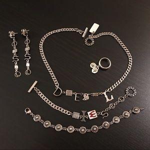 Diesel Jewelry - .925 Sterling Silver Diesel Jewelry Set